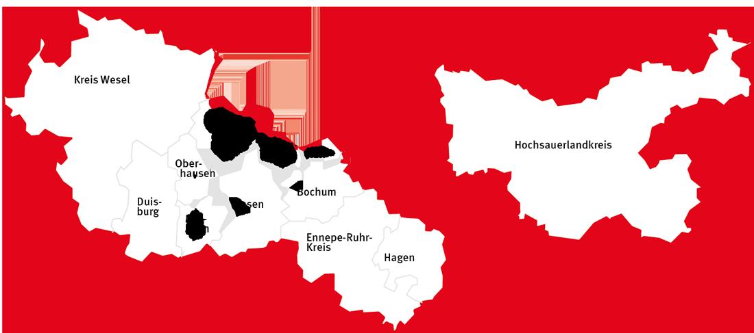 Radio NRW Verbreitungsgebiet